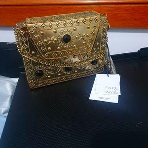 From St Xavier Elmie Metal Clutch Bag